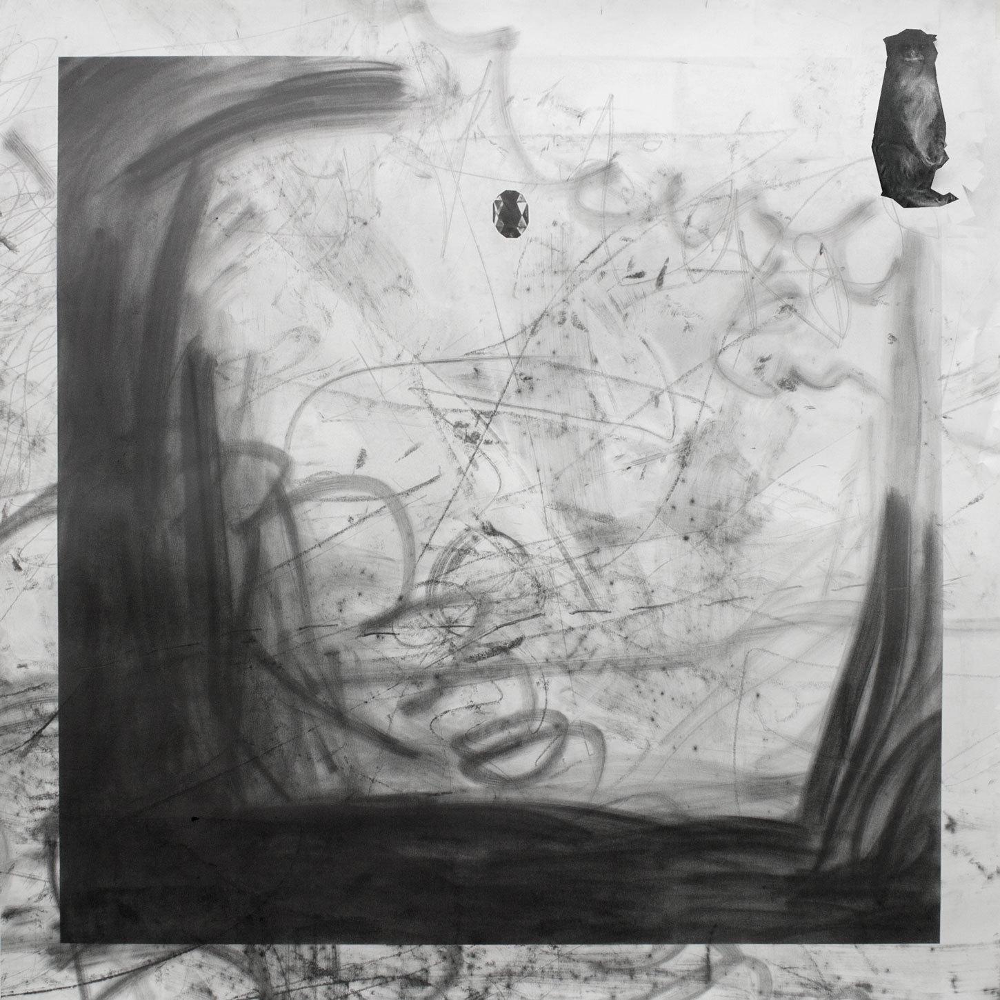 Caliban's Gem, Graphite & Pencil on Paper, 100cm x 100cm, 2015