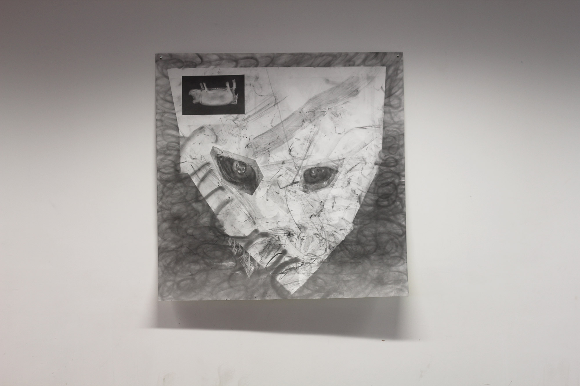Plasticiser, Lab Installation Shot, Graphite & Pencil on Paper, 100cm x 100cm